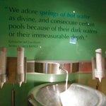 Tasty Water inside the Roman Bath