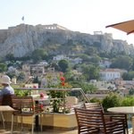 View of Acropolis from pool bar/deck