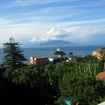 View from Hotel terrace of Mount Vesuvius