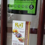 Food hygiene rated 5 star
