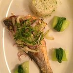 salt baked sea bass, flippin' lovely!