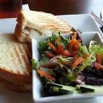 Pork Loin Sandwich with small salad side