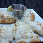 Crab flat bread