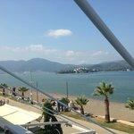 Outlook towards Fethiye from balcony