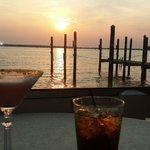 Beverages at sunset