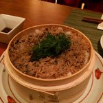 Rice with small young sardines