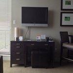 Wohnzimmer mit Flat TV