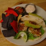 Our fabulous blackened fish tacos...with our lime tarter sauce....