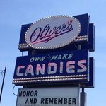 Oliver's Candies sign