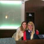 Natalie and Magdalena at the front desk