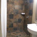 Tile Shower in the King Room