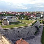 Вид на Эрфурт со стены крепости