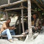 Mineros a la hora de almorzar