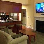 Regal Vistas interior shot - fireplace, TV, kitchen