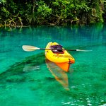 Kayak to blue hole
