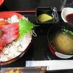 Sashimi set lunch.