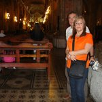 los turistas en la catedral