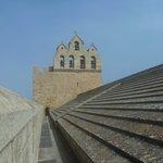 Sur le toit de l'église