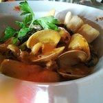 Fetuccini Con calamar y almeja