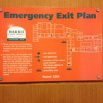 Emergency exit plans are good to show you the basic layout of the hotels.