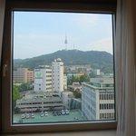 南山とソウルタワーが見えて景色も最高。