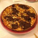 Pizza de morcilla