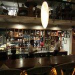 zicht op de bar