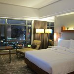 King size bedroom on the 18th floor