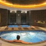Jacuzzi and hot bath area
