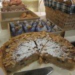 Apple pie at the breakfast buffet