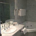 bathroom with corner spa