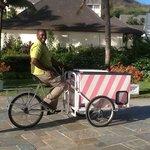 nicholas with the ice cream cart