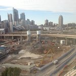 Massive construction opposite the hotel