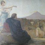 Poignant picture showing Pompei & Versuvius in main lounge area.