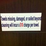Sign in bathroom