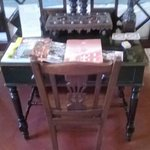 Wooden items in the room
