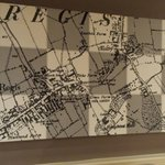 Local map on the wall after recent refurb. Pleasant.