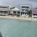 View of Billabong Surf Club from the sea (room on Level 1 and Level 2)