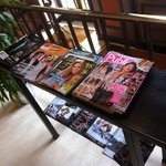 Free magazines for customers