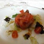 Farcellet de salmón con escalivada - Restaurant El Trull (Lloret de Mar)