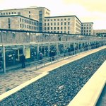 Outdoor exhibits and section of Berlin Wall