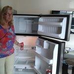 Lekkere grote koelkast.