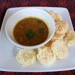 Mince Pork & Prahok with Rice crispy