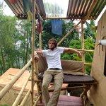 Balkon des großen Zeltes