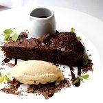 hazelnut choc cake and cream