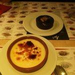 crema catalana e tortino al cioccolaro** una delizia per il palato!!