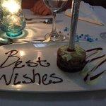 Birthday cake and sparkler!