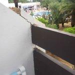 Crumbling unsafe balcony