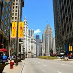 view up Michigan Avenue (hotel is on left)