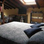 the double bed in top floor room